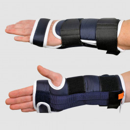 Attelle d'immobilisation de poignet en extension bilatéral