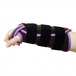 Attelle d'immobilisation de poignet en dorsiflexion bilatéral