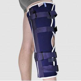 Attelle de genou universelle, boucles à fermeture rapide