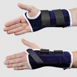 Attelle d'immobilisation de poignet en extension standard