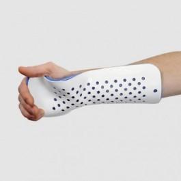 Gouttière pour main fléchie et avant-bras type collés